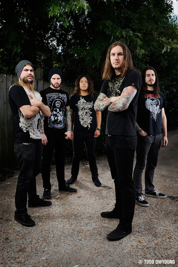 Portraits of metalcore group As I Lay Dying on The Cool Tour 2010, photographed in St. Louis by music photographer Todd Owyoung. (TODD OWYOUNG)