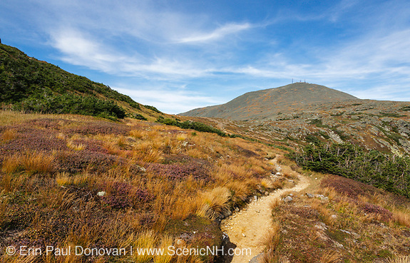 Appalachian Trail - Mount Washington during the late months of summer in the White Mountains, New Hampshire.