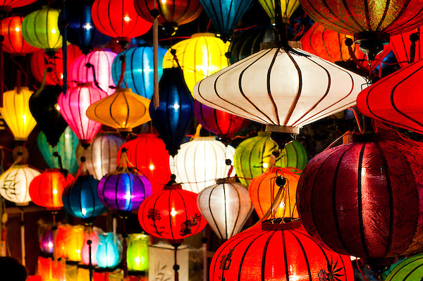 Hoi An Full Moon Chinese Lantern Festival - colourful Chinese lanterns