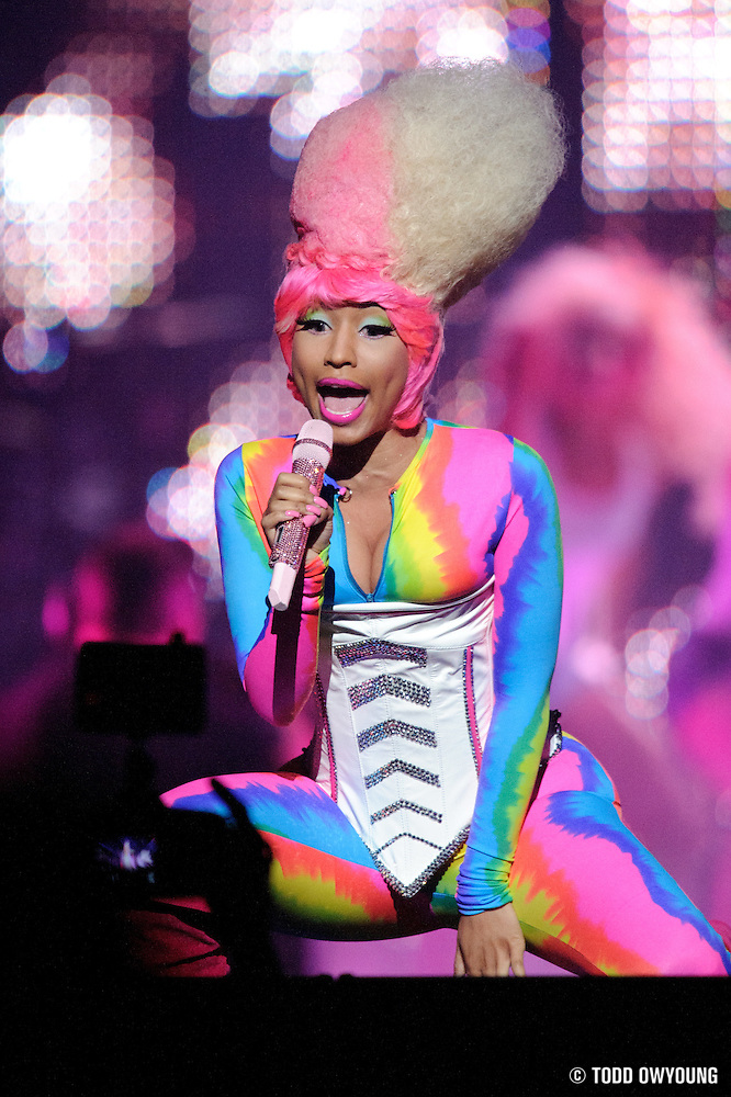 Nicki Minaj performing in support of Lil Wayne on the I Am Still Music Tour at the Scottrade Center in St. Louis, MO, on April 10, 2011. (Todd Owyoung)