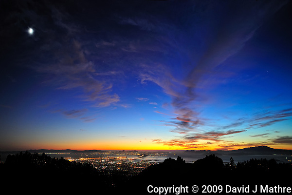 Sunset Panorama of San Francisco Bay. (David J Mathre)