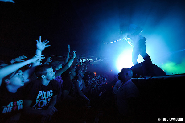 """Photos of Christian metalcore band Underoath performing at the Pageant in St. Louis on July 25, 2010 on """"The Cool Tour."""" (Todd Owyoung)"""