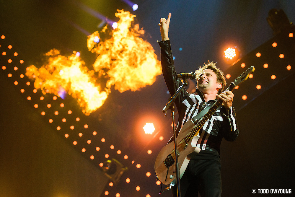 Muse performing at the iHeartRadio Music Festival at the MGM Grand Arena on Friday, September 20, 2013. (Todd Owyoung)