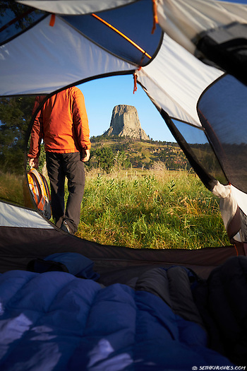 Camping at Devil's Tower National Monument, Black Hills Forest, Wyoming (©2015 Seth K. Hughes)