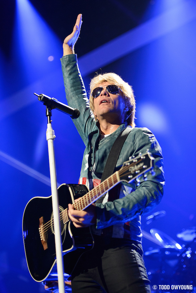 Bon Jovi performing at the iHeartRadio Music Festival in Las Vegas, Nevada on September 21, 2012. (Todd Owyoung)