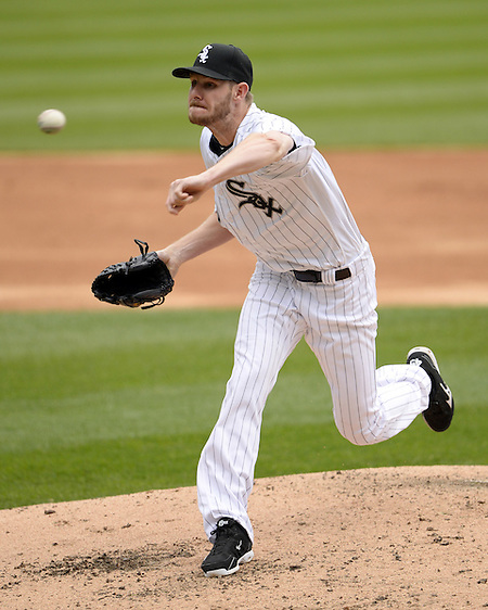 CHICAGO - APRIL 20: Chris Sale #49 of the Chicago White Sox pitches against the Los Angeles Angels of Anaheim on April 20, 2016 at U.S. Cellular Field in Chicago, Illinois. The White Sox defeated the Angels 2-1. (Photo by Ron Vesely) Subject: Chris Sale (Ron Vesely)