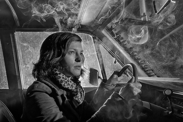 High Desert Noir,Darkness, American Dreamscapes and Nightscapes, Limited Edition Print of 12 The Drive , Rio #3 (Christian Heeb)