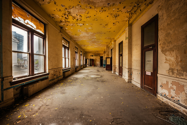 The abandoned historic Memphis Central Police Station in downtown Memphis, TN. (Walter Arnold Photography)