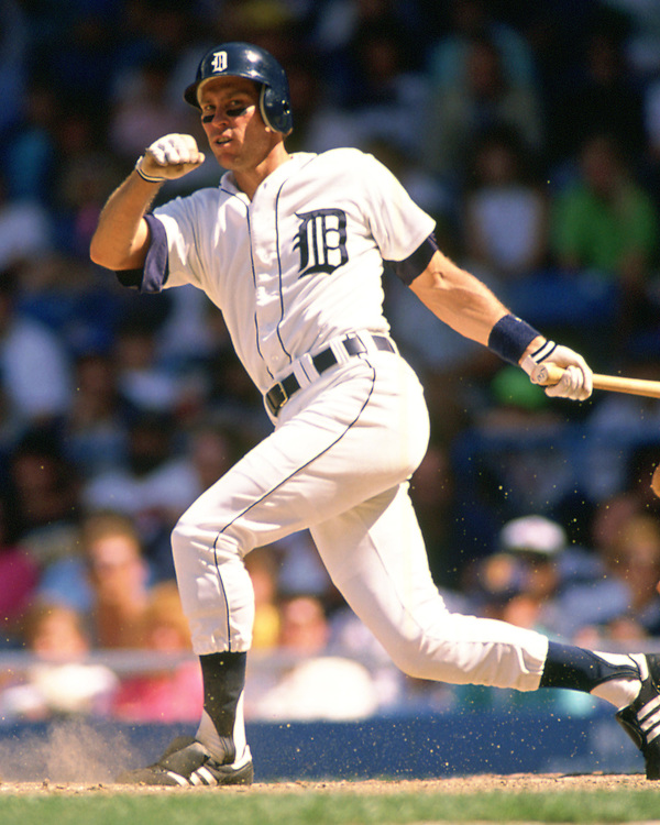 DETROIT - 1987: Alan Trammell of the Detroit Tigers bats during an MLB game at Tiger Stadium in Detroit, Michigan during the 1987 season. (Photo by Ron Vesely). Subject: Alan Trammell (Ron Vesely)