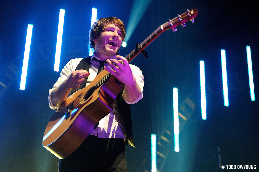 Photos of Adam Young - AKA Owl City - performing at the Pageant in St. Louis on the closing concert of their five-month tour. May 5, 2010. (Todd Owyoung)