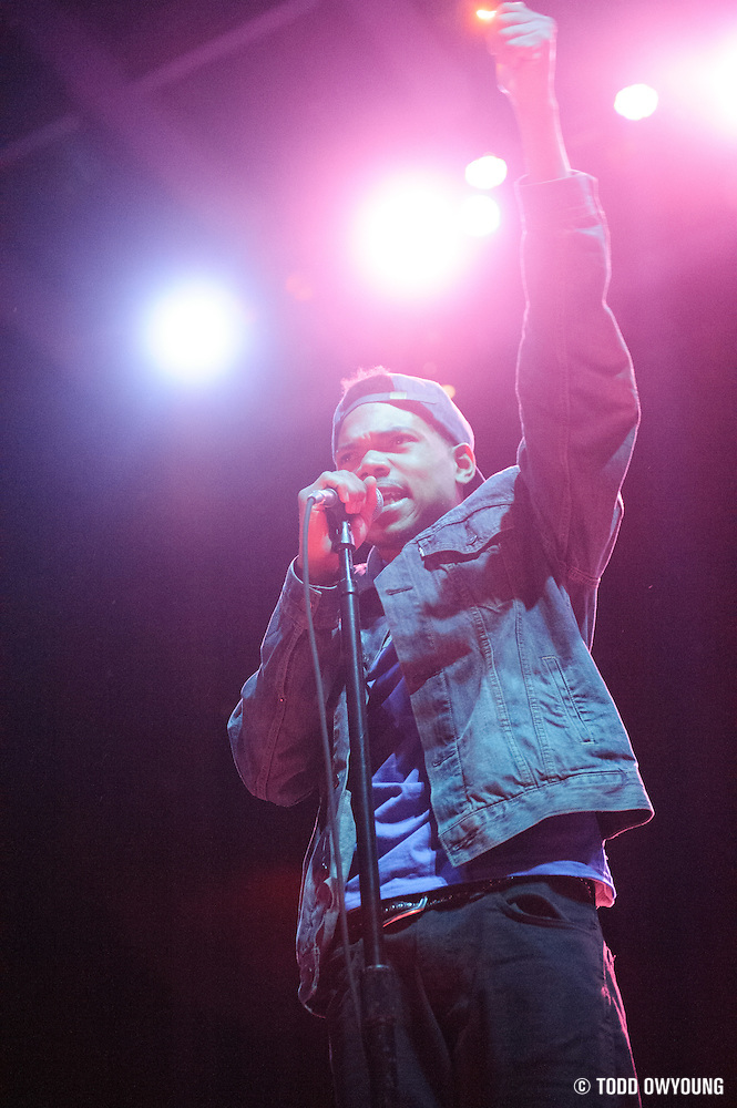 Chance The Rapper opening for Childish Gambino at the Pageant in St. Louis on June 7, 2012. (TODD OWYOUNG)