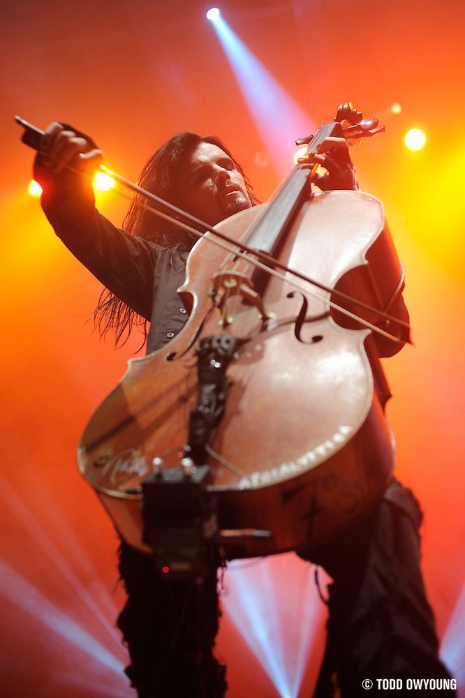 Photos of Finnish metal band Apocalyptica performing at the Pageant in St. Louis on August 31, 2010. (Todd Owyoung)