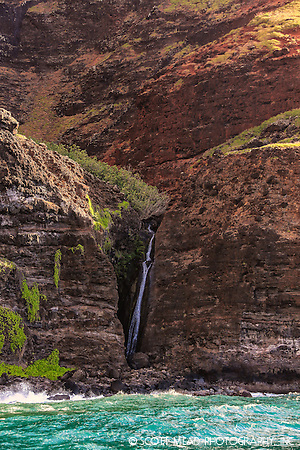 Waterfall on Na Pali Coast, Kauai, Hawaii (Scott Mead)