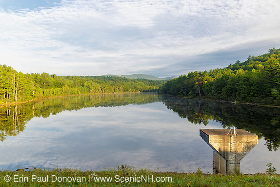 September view of the Baker Floodwater Reservoir Site from Hildreth Dam in Warren, New Hampshire USA during the summer months.