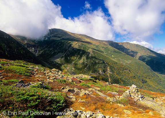 Scenic view of Tuckerman Ravine in the White Mountains, New Hampshire.