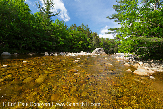 The East Branch of the Pemigewasset River in the Pemigewasset Wilderness of Lincoln, New Hampshire.