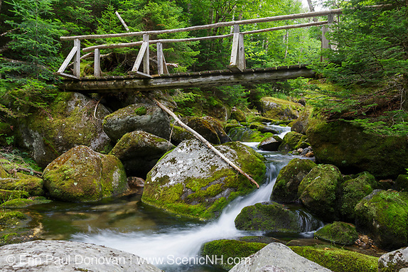The Sanders Bridge along the Randolph Path in Low and Burbank's Grant, New Hampshire during the summer months.
