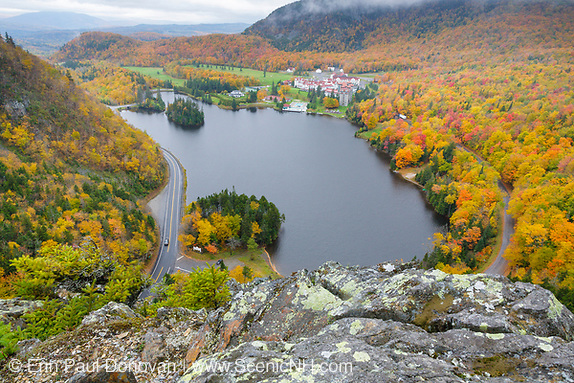 Dixville Notch - Lake Gloriette next to the Balsams Grand Resort during the autumn months in Dixville, New Hampshire USA. (Erin Paul Donovan)
