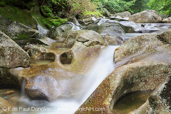 Lost River in Kinsman Notch of Woodstock, New Hampshire USA during the summer months.