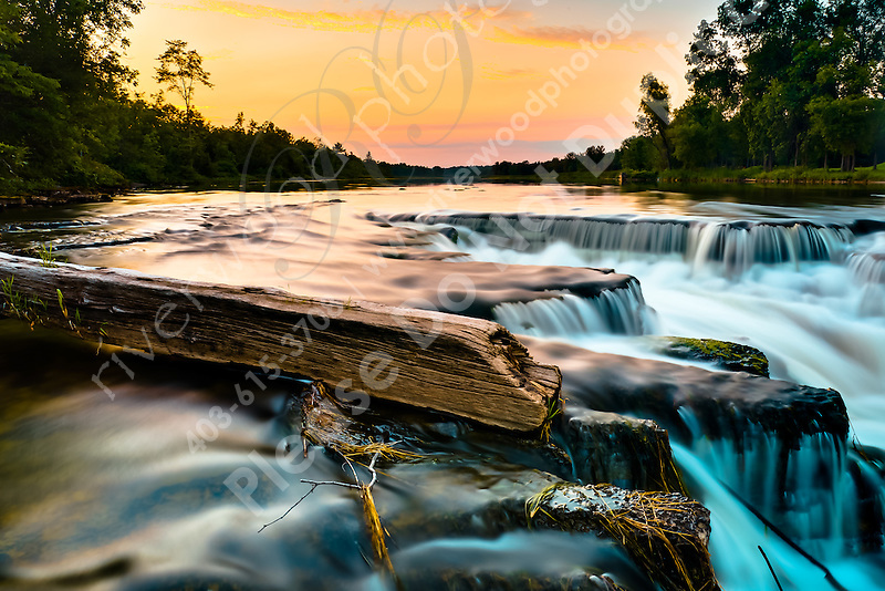I've created many images of these falls over the years. I just can't keep away and I get the urge to go back there every time we go to the cottage. There are so many different ways to make images at the falls that I really don't even have two similar images. I reall love the soft light that wraps around the area at sunset and this is one of my favorite places to photograph...©2010, Sean Phillips.http://www.RiverwoodPhotography.com (Sean Phillips)