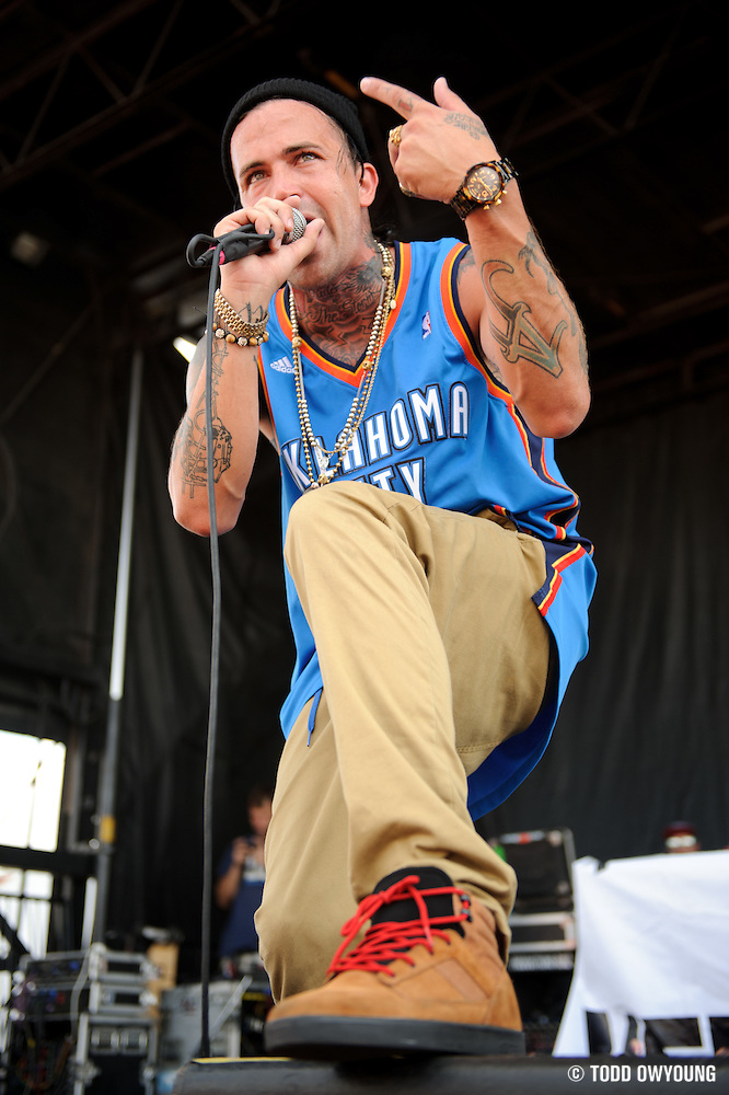 Yelawolf performing on Warped Tour at Verizon Wireless Amphitheater in St. Louis, Missouri on August 3, 2011. © Todd Owyoung. (Todd Owyoung)