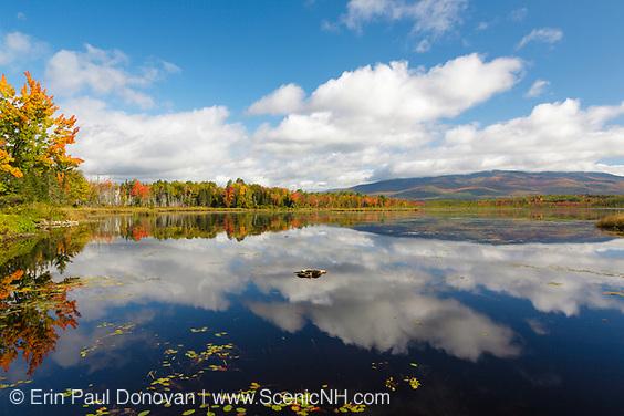 Pondicherry Wildlife Refuge - Reflection of autumn foliage in Cherry Pond in Jefferson, New Hampshire USA during the autumn months.