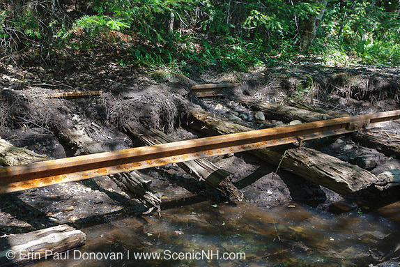 Pemigewasset Wilderness - Abandoned rail-line deep in the Pemigewasset Wilderness in Lincoln, New Hampshire. This spur line was located along the East Branch & Lincoln logging railroad, which operated from 1893-1948.
