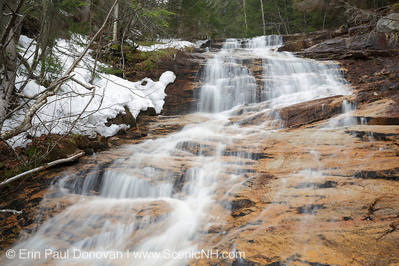 Crawford Notch State Park - Kedron Flume along Kedron Brook in Harts Location, New Hampshire USA during the spring months.