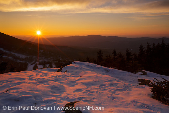 Franconia Notch State Park - Sunset from Bald Mountain in the White Mountains, New Hampshire.