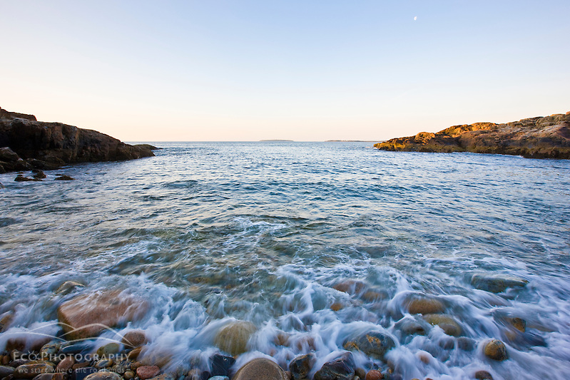 Early morning on Little Hunters Beach in Maine's Acadia National Park. (Jerry and Marcy Monkman)