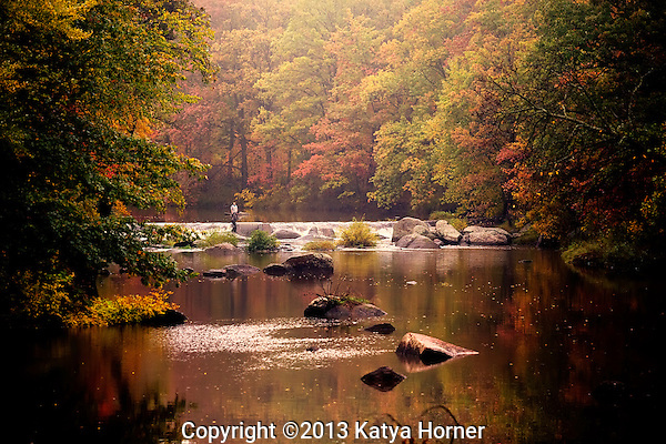 The Big Eau Pleine River in Wisconsin on a misty autumn afternoon. (Katya Horner/Slight Clutter Photography)