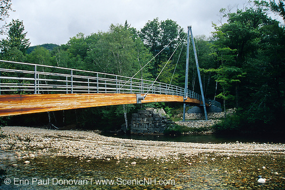 Crawford Notch State Park - Bemis Bridge, which crosses the Saco River along Davis Path in the White Mountain National Forest of New Hampshire.