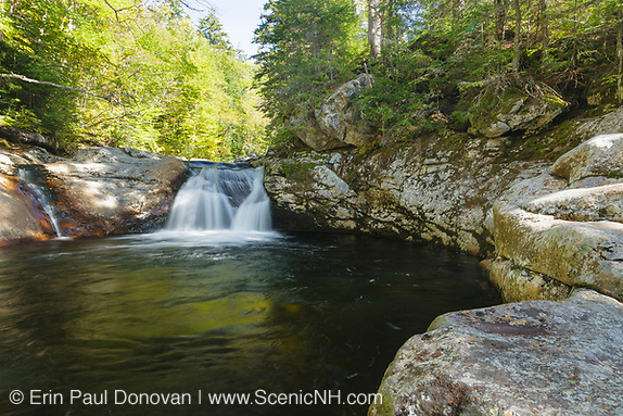 Cascade just above Dry River Falls in Cutt's Grant of the New Hampshire White Mountains during the summer months. Dry River Falls is located along the Dry River near the Dry River Trail.