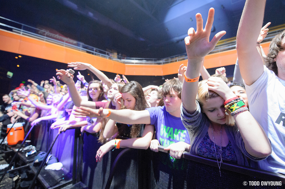 Fans at Rusko's  performance at the Pageant in St. Louis, Missouri on February 27, 2012. (Todd Owyoung)