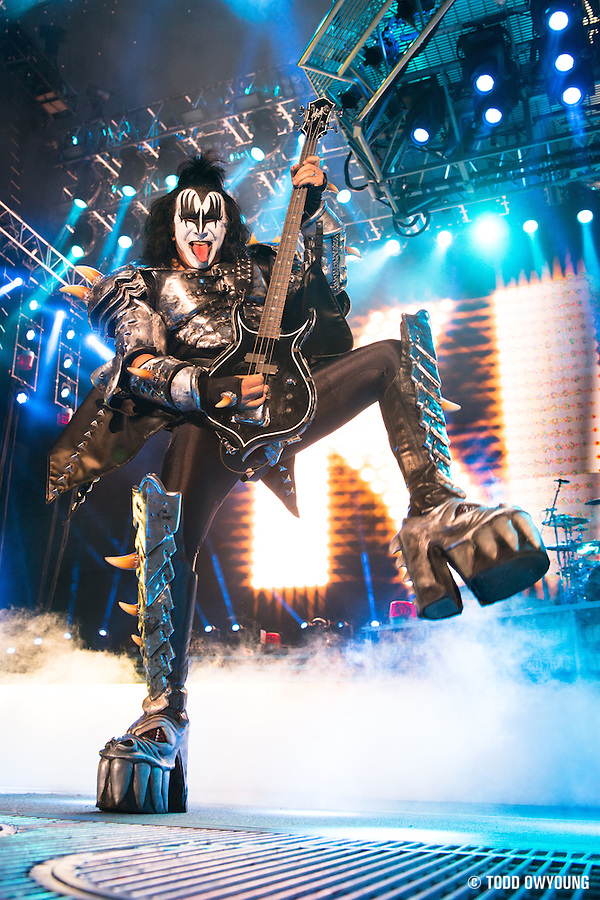 Photos of KISS performing on The Tour at Verizon Wireless Amphitheater in St. Louis on August 27, 2012. (Todd Owyoung)