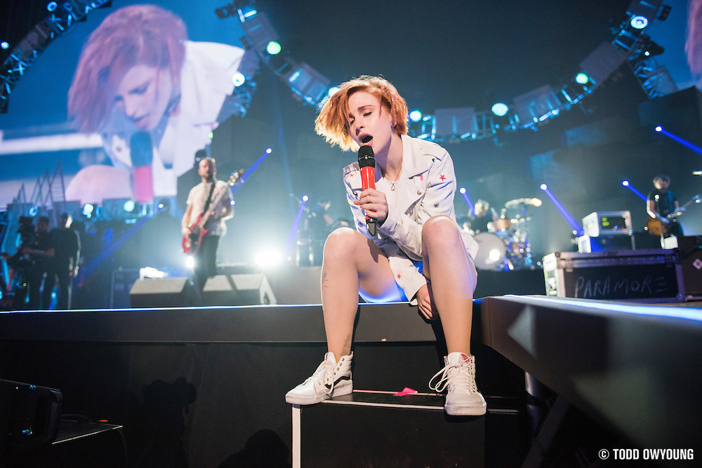 Paramore performing at the iHeartRadio Music Festival in Las Vegas, Nevada on Sepembter 20, 2014. (Todd Owyoung)