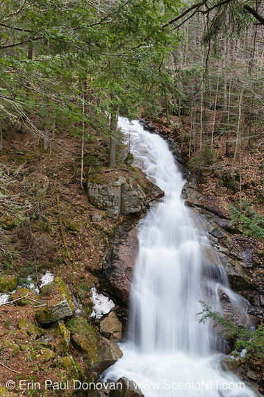 Franconia Notch State Park - Liberty Gorge Cascade in Lincoln, New Hampshire USA. This waterfall is located in the Flume Gorge area along Cascade Brook.