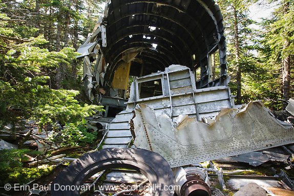 Appalachian Trail - Crash site of Northeast Airlines Flight 792 on Mount Success in the White Mountains, New Hampshire. This was a Douglas DC-3 Plane, which crashed on November 30, 1954. Seven people on-board survived the initial crash, but two later died from injuries while waiting to be rescued.