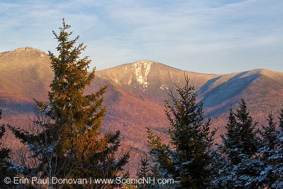 Franconia Notch State Park - Franconia Ridge from the summit of Mount Pemigewasset in Lincoln, New Hampshire during the winter months.