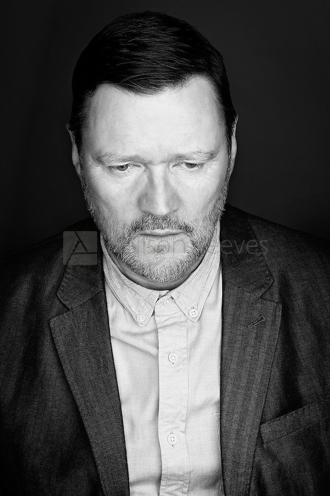 Actor Ian Puleston-Davies demonstrates his acting ability in this black and white portrait of a man with a lot on his mind. (Colin Boulter)