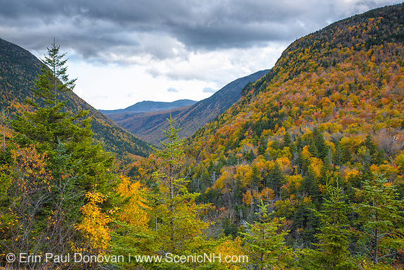 Crawford Notch State Park during the autumn months from Elephants Head in the White Mountains, New Hampshire USA. (ScenicNH.com Photography | Erin Paul Donovan)