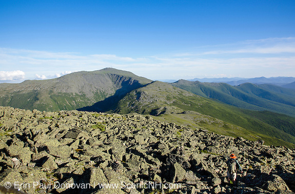 Mount Washington from the summit of Mount Jefferson in the White Mountains, New Hampshire.
