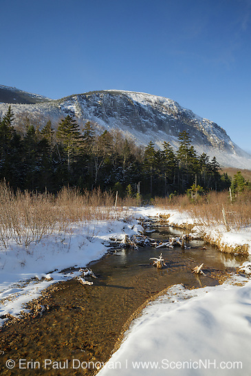 Franconia Notch State Park - Cannon Mountain from along the Pemi Trail in the White Mountains, New Hampshire.