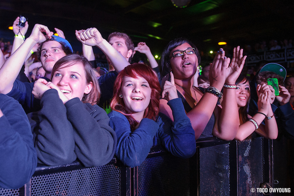 Fans at Pop's in Sauget, IL for Awolnation on January 21, 2012. (Todd Owyoung)