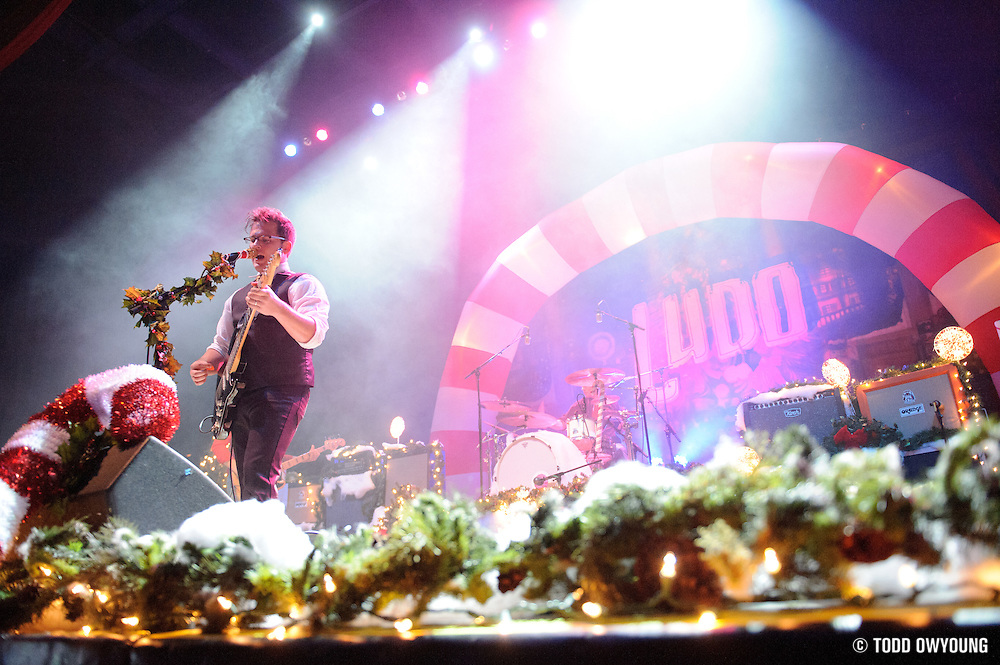 Ludo performing at the Pageant for their Christmas show on December 10, 2011 with support from Treaty of Paris and Option Control. (Todd Owyoung)